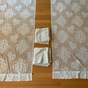 Martha Stewart Lace Curtails, 4 Panels